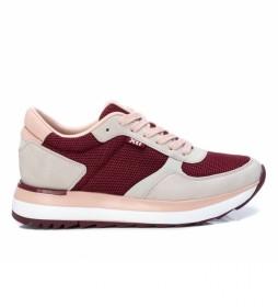 Zapatillas 043436 beige, rojo
