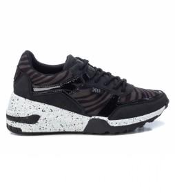Zapatillas 044599 negro -Altura cuña: 6 cm-