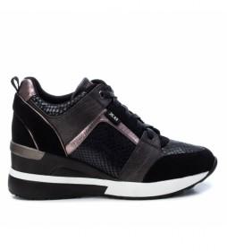 Zapatillas 044654 negro -Altura cuña: 7 cm-