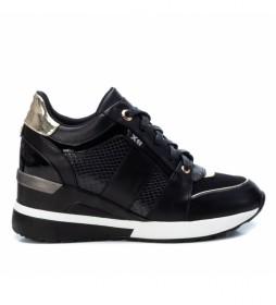 Zapatillas 044656 negro -Altura cuña: 7 cm-