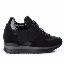 Zapatillas 049268 negro -Altura cuña: 6cm-