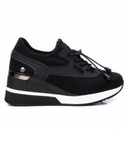 Zapatillas 036689 negro -Altura cuña 6 cm-