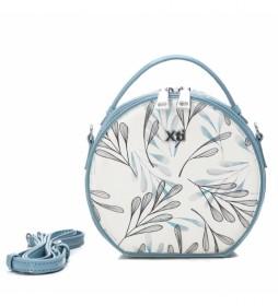 Bolso Kids 086500 azul, floral -16x18x9cm-