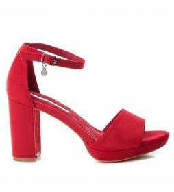 Sandalias 035047 rojo -Altura tacón:  8cm-