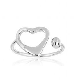 Anillo Corazón Abierto plata