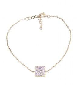 Pulsera Cuadrado plata chapada en oro rosa