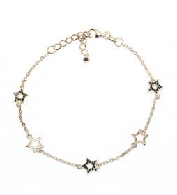 Pulsera Estrellas plata chapada en oro rosa