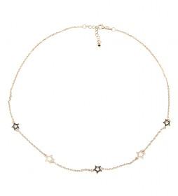 Collar Estrellas plata chapado rosa