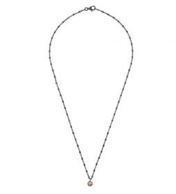 Collar Redonda plata rutenio champagne