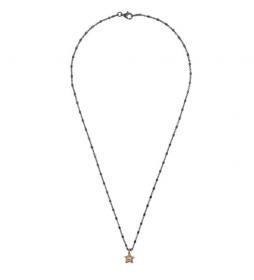 Collar Estrella plata rutenio champagne