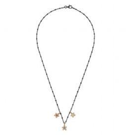 Collar Estrellas plata rutenio multicolor