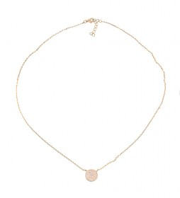 Collar Redonda plata chapado rosa