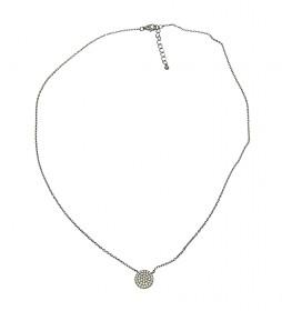 Collar Redondas plata rutenio champagne