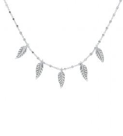 Collar Plumas plata