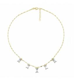 Collar 5 Motivos plata chapado blanco -40-42cm-