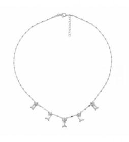 Collar 5 Motivos plata blanco -40-42cm-