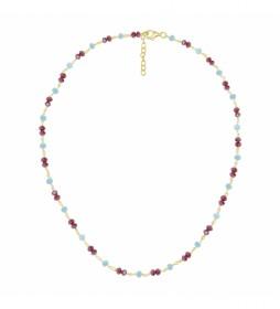 Collar Rosario de Plata turmalinas multicolor