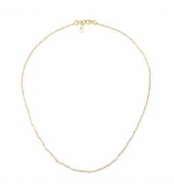 Collar Rosario Espinelas plata chapado rosa -40-42 cm-