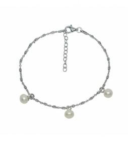 Pulsera de Plata perlas cilvatadas