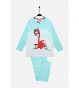 Pijama Manga Larga Warm Wishes azul