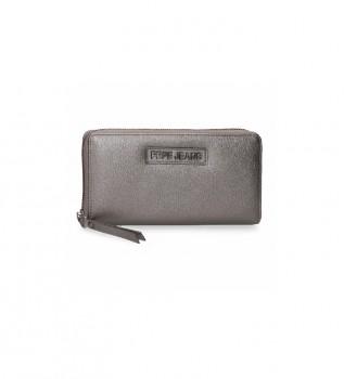 Comprare Pepe Jeans Portafoglio Cira -18x10x2cm- grigio metallizzato