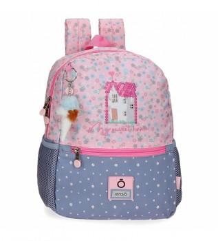 Comprar Enso Minha Mochila Lar Doce para Caminhar -25x32x12 cm- rosa, azul