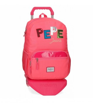 Comprar Pepe Jeans Mochila Kim com carrinho cor de rosa -32x43x15cm
