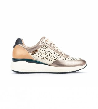 Buy Pikolinos Sella W6Z Leather Shoes Gold