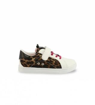 Buy Shone Slippers 231-037 white, animal print