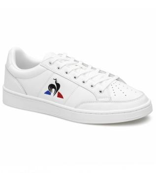 Acheter Le Coq Sportif COURT NET SPORT baskets en cuir blanc