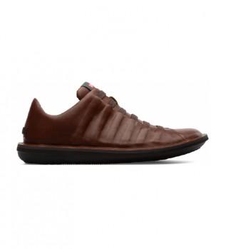 Comprare CAMPER Pantofole in pelle di coleottero marrone