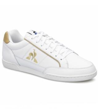 Acheter Le Coq Sportif Baskets en cuir TOURNAMENT blanc, marron