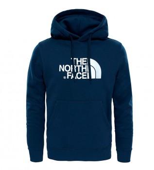 Comprare The North Face Felpa in cotone Navy Drew Peak, bianca