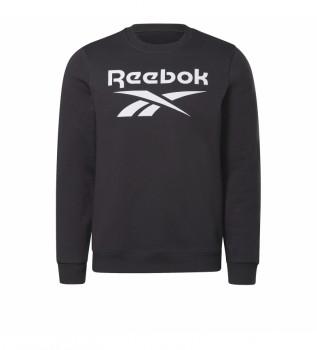 Buy Reebok Reebok Identity Fleece crew neck sweatshirt black