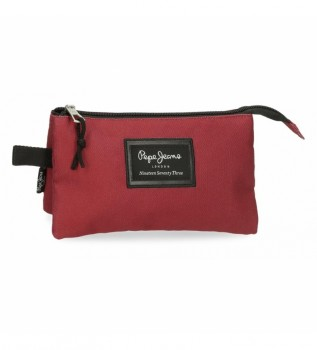 Buy Pepe Jeans Three compartment pencil case 6334328 red - 22x12x5cm - -