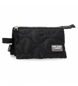 Acheter Pepe Jeans Trousse à crayons noire Orson -22x12x5cm