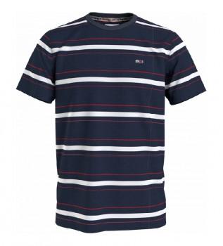 Acheter Tommy Hilfiger TJM Slub Stripe T-shirt marine, blanc