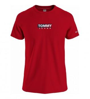 Comprar Tommy Hilfiger TJM Entrada Imprimir T-shirt vermelha