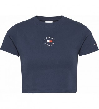 Comprare Tommy Hilfiger TJW Baby Crop Tinny Tommy Navy T-shirt