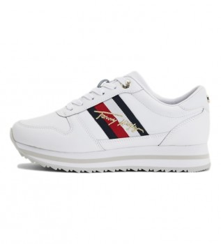 Acheter Tommy Hilfiger Chaussures en cuir Th Signature Runner blanc