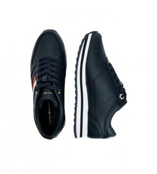 Acheter Tommy Hilfiger Chaussures en cuir Signature Runner, coloris bleu marine