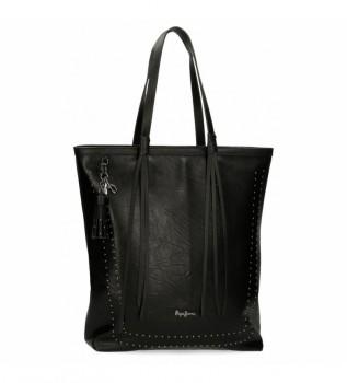 Buy Pepe Jeans Shopper Chic bag black -35x40x11cm
