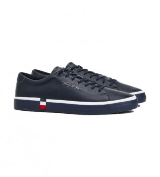 Comprare Tommy Hilfiger Sneaker Corporate Modern in pelle blu navy