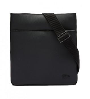 Comprare Lacoste Borsa piatta nera -26 x 28 x 3 cm-