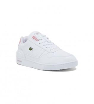 Acheter Lacoste Chaussures Junior T-Clip Court blanc