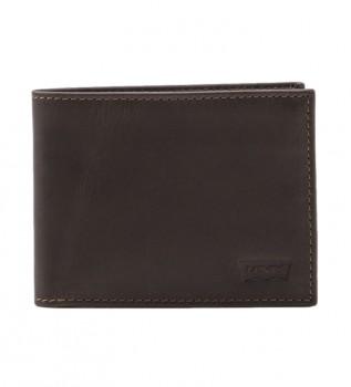 Acheter Levi's Portefeuille en cuir Batwing brun foncé -11x2x8,5cm