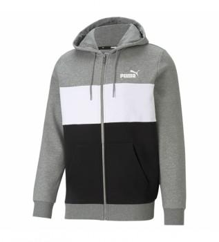Comprar Puma Sudadera ESS+ Colorblock FZ gris, negro, blanco