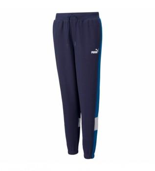 Comprare Puma Pantaloni Ess + Colorblock FL cl B navy