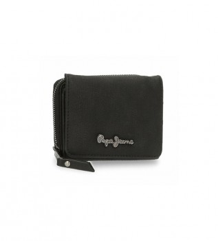 Buy Pepe Jeans Wallet Aure black -10 x 8 x 3 cm