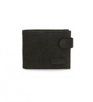 Comprare Pepe Jeans Portafoglio Oliver nero con chiusura a scatto -11x8.5x1cm-
